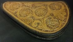 Tooled Floral Pistol Case